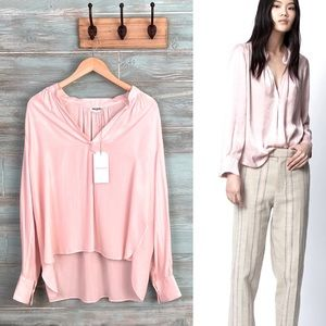 """Zadig & Voltaire """"Tink"""" Japanese Satin Tunic Parme"""